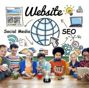 Website social media SEO